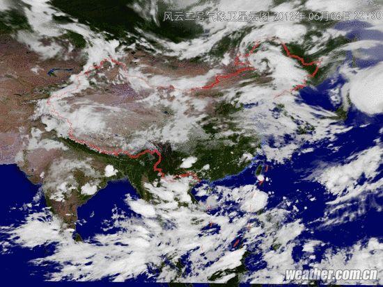 高清卫星云图天气预报